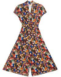TOMCSANYI Budapest Face Print Kimono Jumpsuit - Multicolour