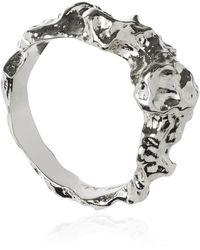 Matthew Calvin Meteor Ring In Silver - Metallic