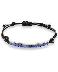 Ona Chan Jewelry | Corded Bracelet With Blue Quartz | Lyst