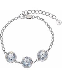 Nadia Minkoff - Patina 3 Stone Bracelet Silver - Lyst