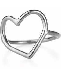 Chupi | My Heart Is Open Ring Silver | Lyst
