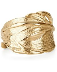 Chupi - Swan Feather Ring Gold - Lyst