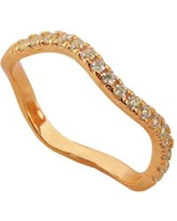 Eshvi - Capsule Ring With Crystals - Lyst