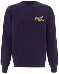 blonde gone rogue Disco Demolition Organic Sweatshirt In Navy - Blue