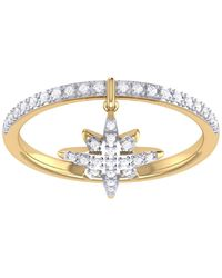LMJ North Star Charm Ring In 14 Kt Yellow Gold Vermeil On Sterling Silver - Metallic