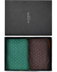 KLOTERS MILANO - Brown And Green Little Polka Dots Socks Pack - Lyst