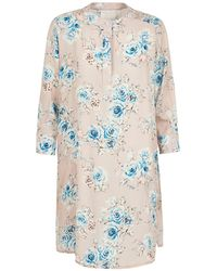 Lindsay Nicholas New York Shirt Dress In Pale Pink