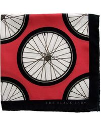 The Black Ears - The Red Wheel Silk Pocket Square - Lyst