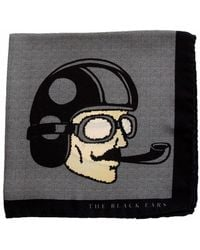 THE BLACK EARS | The Grey Dapper Man Silk Pocket Square | Lyst