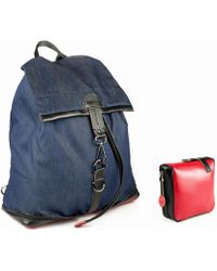 Charlie Baker London - New York Fold Up Leather Based Backpack - Lyst
