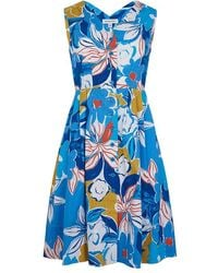 Emily and Fin Scarlett Blue Asilah Floral Dress