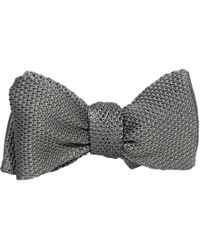 40 Colori - Grey Knitted & Woven Silk Butterfly Bow Tie - Lyst
