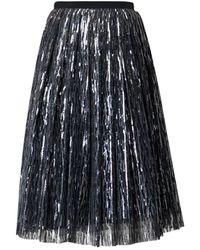 Rumour London Fairy Midi Sequined Skirt In Silver - Metallic
