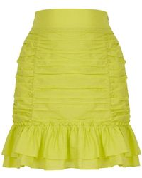 Nocturne Ruched Skirt - Green
