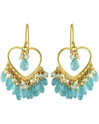 Carousel Jewels - Apatite & Pearl Dangle Earrings - Lyst