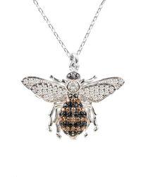 LÁTELITA London Honey Bee Pendant Necklace Silver - Metallic