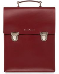 Sophie Fleming - The Carnaby Backpack Oxblood - Lyst