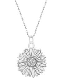 CarterGore - Large Silver Daisy Flower Pendant Necklace - Lyst