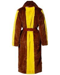 AGGI Heera Mink Faux Fur Coat - Brown