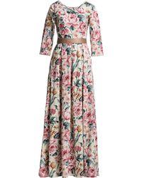 MATSOUR'I - Aurora Dress Gold Floral - Lyst