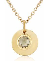 Auree - Bali 9ct Gold April Birthstone Necklace White Topaz - Lyst