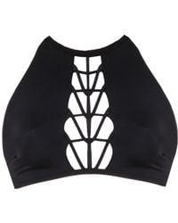 Urchindeep - Try Angle Black Bikini Top - Lyst