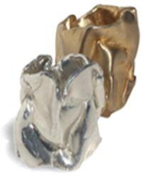 Sabre Folded Ring Vermeil - Metallic