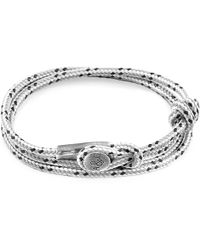 Anchor & Crew - Grey Dash Dundee Silver & Rope Bracelet - Lyst