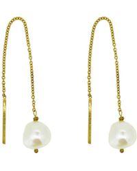 Yvonne Henderson Jewellery - Pearl Thread Through Drop Earrings - Lyst