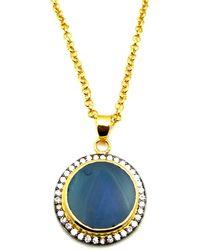 Meghna Jewels - Aqua Blue Round Druzy Necklace - Lyst