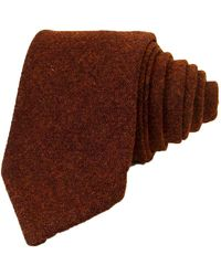 40 Colori Red Solid Wool Tie