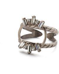 Sorrelli Nina Stacked Ring - Metallic