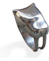 Sabre Sabre Tooth Cat Ring - Metallic