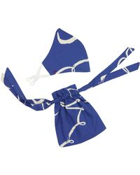 Emily and Fin Contour Mask With Gift Bag Brushstroke Dove - Blue