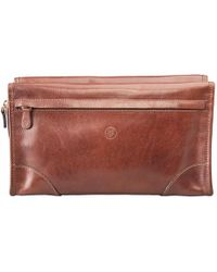 Maxwell Scott Bags - The Tanta Luxury Large Leather Wash Bag Chestnut Tan - Lyst