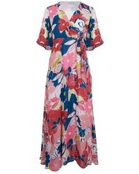 Emily and Fin Chloe Pink Asilah Floral Wrap Dress