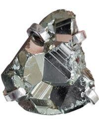 Tiana Jewel Marly Pyrite Mini Gemstone Ring - Multicolour