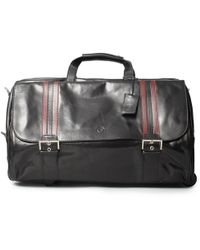 Maxwell Scott Bags | Luxury Italian Leather Large Wheeled Duffle Dinol Night Black | Lyst