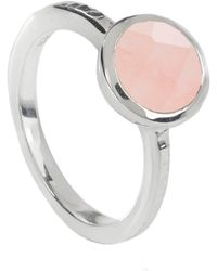 Neola - Estella Sterling Silver Ring Rose Quartz - Lyst