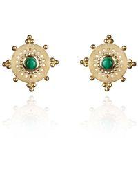 Perle de Lune Talisman Earrings - Metallic