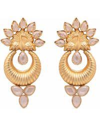 Carousel Jewels - Sliced Crystal Peacock Earrings - Lyst