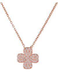 Latelita - Lucky Clover Necklace Rosegold - Lyst