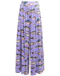 TOMCSANYI Ingola Wide Leg Pants - Purple