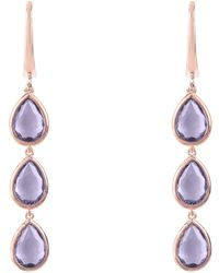 LÁTELITA London - Sorrento Triple Drop Earring Rosegold Amethyst - Lyst