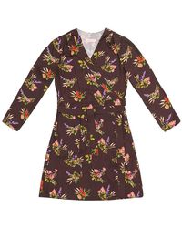 TOMCSANYI Terez Lame Flower Print Wrap Dress - Multicolour