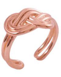MARIE JUNE Jewelry Figure 8 Knot Rose Gold Ring - Metallic