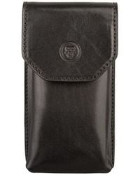 Maxwell Scott Bags - Luxury Italian Men's Leather Glasses Case Gabbro Black - Lyst