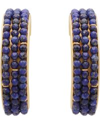 Carousel Jewels - Lapis Large Hoops - Lyst