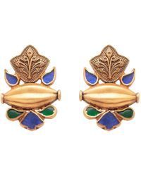 Carousel Jewels - Blue And Green Dyed Crystal Studs - Lyst