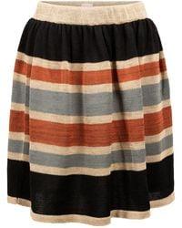 STUDIO MYR Swirly Linen Skirt Bogolan - Multicolour